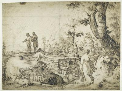 Landscape with Peasants by a Hut, 1593