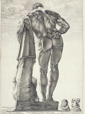 The Farnese Hercules, 1592 by Hendrik Goltzius