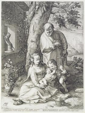 The Holy Family with St. John, 1593 by Hendrik Goltzius