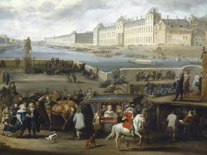 The Louvre Seen from the Pont-Neuf, 1666, Detail by Hendrik Goltzius