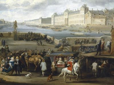 The Louvre Seen from the Pont-Neuf, 1666, Detail