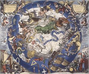 Haemisphaeri Graphicum Coelitietum Sceno Australae Stella Terrae, 1660 by Hendrik Hondius