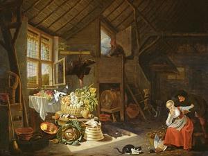 Interior of a Farmhouse by Hendrik Martensz Sorgh