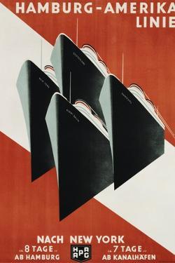 Hamburg-Amerika Linie Poster by Henning Koeke