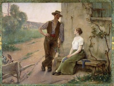 Peasant Couple in a Farmyard, 1889