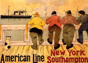 American Line, New York to Southampton by Henri Cassiers