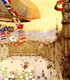 Expo Universelles Bruxelles, 1910 by Henri Cassiers