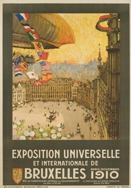 Exposition Universelle Et Internationale De Bruxelles Poster by Henri Cassiers