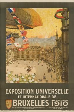 Exposition Universelle Et Internationale De Bruxelles Poster by Henri Cassiers