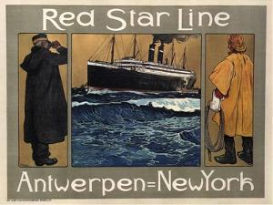 Red Star Line, 1908 by Henri Cassiers
