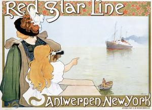 Red Star Line by Henri Cassiers
