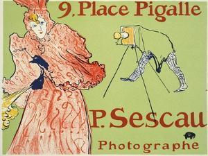 9, Place Pigalle, P. Sescau Photographe, 1894 by Henri de Toulouse-Lautrec