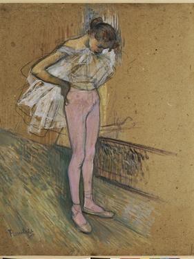 A Dancer Adjusting Her Leotard by Henri de Toulouse-Lautrec