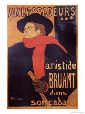 Ambassadeurs: Aristide Bruant, 1892 by Henri de Toulouse-Lautrec