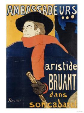 Ambassadeurs; Aristide Bruant, 1892 by Henri de Toulouse-Lautrec