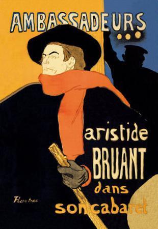 Ambassadeurs: Aristide Bruant dans Son Cabaret by Henri de Toulouse-Lautrec