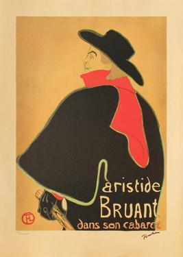 Aristide Bruant dans son cabaret I by Henri de Toulouse-Lautrec
