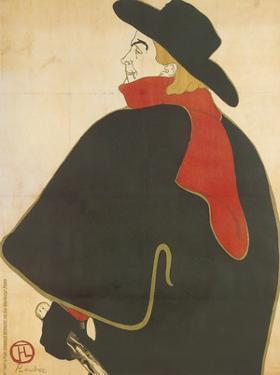 Aristide Bruant dans son cabaret by Henri de Toulouse-Lautrec