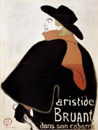 Aristide Bruant in His Cabaret by Henri de Toulouse-Lautrec