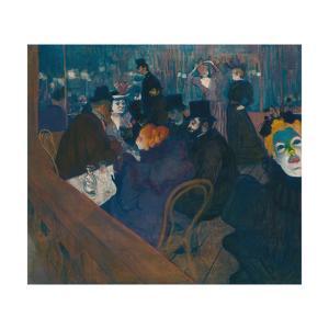At the Moulin Rouge, 1892-93 by Henri de Toulouse-Lautrec