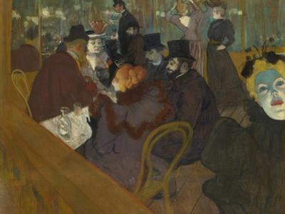 At the Moulin Rouge, 1892-95 by Henri de Toulouse-Lautrec