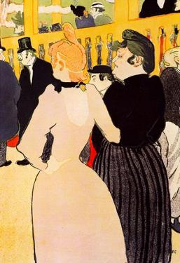 Henri de Toulouse-Lautrec At the Moulin Rouge la Goulue and her Sister Art Print Poster