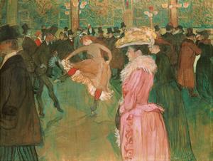 At the Moulin Rouge: The Dance, 1890 by Henri de Toulouse-Lautrec