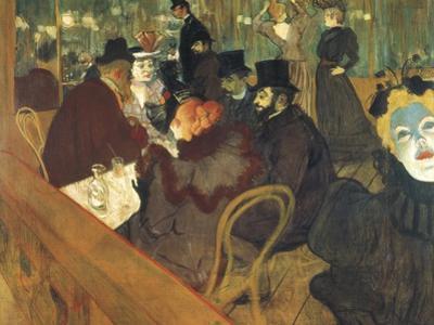 At the Moulin Rouge by Henri de Toulouse-Lautrec