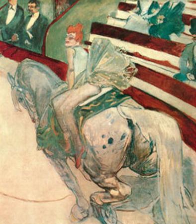 Au Cirque Fernand Ecuyere by Henri de Toulouse-Lautrec