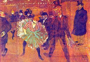 Henri de Toulouse-Lautrec Ball At Moulin-Rouge Art Print Poster