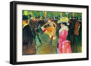 Ball In The Moulin Rouge by Henri de Toulouse-Lautrec