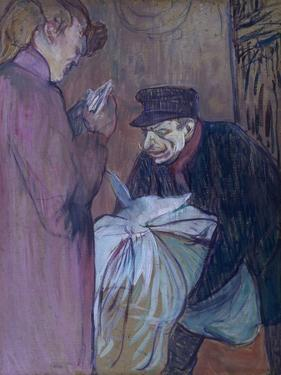 Brothel Laundryman, 1894 by Henri de Toulouse-Lautrec