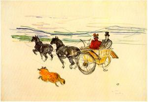 Henri de Toulouse-Lautrec Carriage Art Print Poster