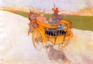 Henri de Toulouse-Lautrec Carriage with Dog Art Print Poster
