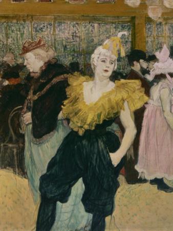 Cha-U-Kao at the Moulin Rouge (Female Clown) by Henri de Toulouse-Lautrec