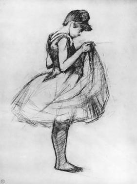 Dancer Adjusting Her Costume and Hitching Up Her Skirt, 1889 by Henri de Toulouse-Lautrec
