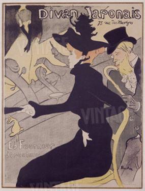 Divan Japonaise, c.1893 by Henri de Toulouse-Lautrec