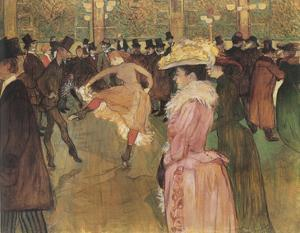 Dressage des nouvelles, par Valentin le Desosse (Moulin Rouge) by Henri de Toulouse-Lautrec