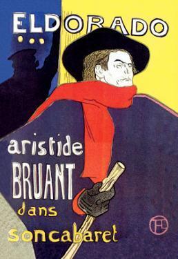 El Dorado: Aristide Bruant dans Son Cabaret by Henri de Toulouse-Lautrec