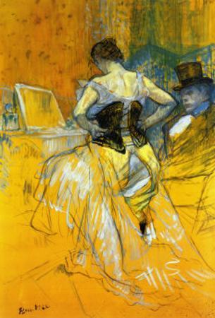 Femme Mettant Son Corset by Henri de Toulouse-Lautrec