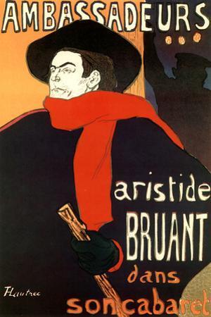 Henri de Toulouse-Lautrec (Bruant in Ambassadeurs) by Henri de Toulouse-Lautrec