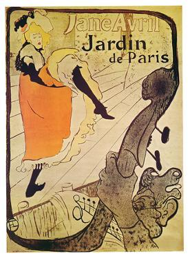 Henri Toulouse-Lautrec- Vintage Jane Avril by Henri de Toulouse-Lautrec