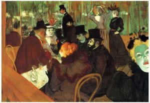 Henri de Toulouse-Lautrec In the Moulin Rouge Art Print Poster