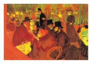 In The Moulin Rouge by Henri de Toulouse-Lautrec