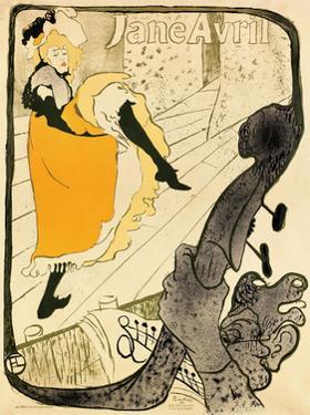 Jane Avril, 1893 by Henri de Toulouse-Lautrec