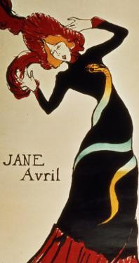 Jane Avril 1899 by Henri de Toulouse-Lautrec