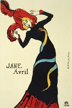 Jane Avril, 1899 by Henri de Toulouse-Lautrec