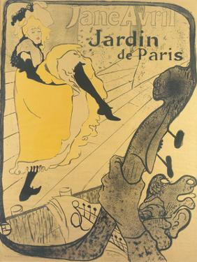 Jane Avril au Jardin de Paris by Henri de Toulouse-Lautrec