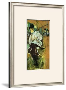 Jane Avril Dancing by Henri de Toulouse-Lautrec