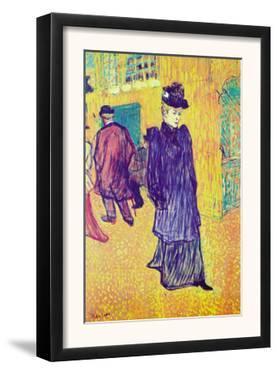 Jane Avril Leaves The Moulin Rouge by Henri de Toulouse-Lautrec